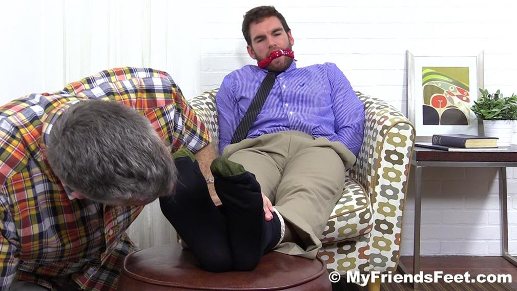 Chase LaChance Tied Up, Gagged and Foot Worshiped MyFriendsFeet