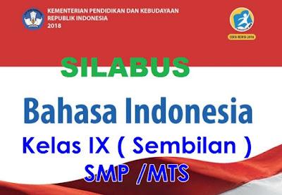 Silabus Bahasa Indonesia Kelas 9 Semester 2 Kurikulum 2013 Revisi 2018