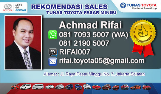 Rekomendasi Sales Tunas Toyota Pasar Minggu Jakarta Selatan