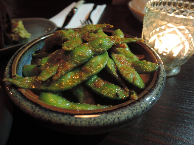 united kitchen, edaname beans, tapas