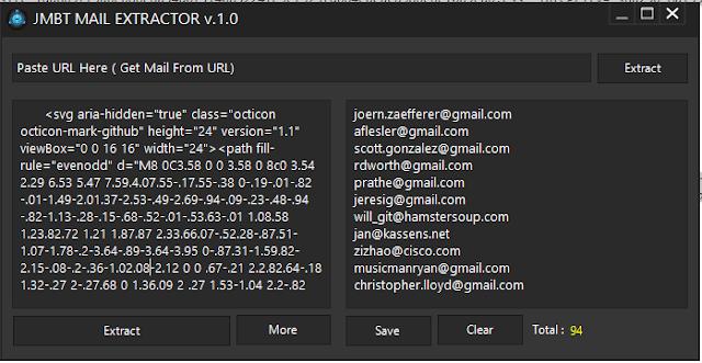 Extract Email Menggunakan JMBT Mail Extractor v1.0