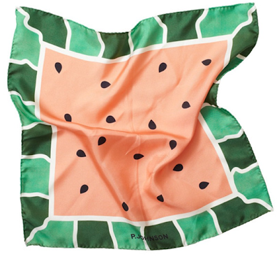 Watermelon Pocket Square by P. Johnson Tailor from Opumo