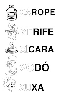 Silabário: xa, xe, xi, xo, xu
