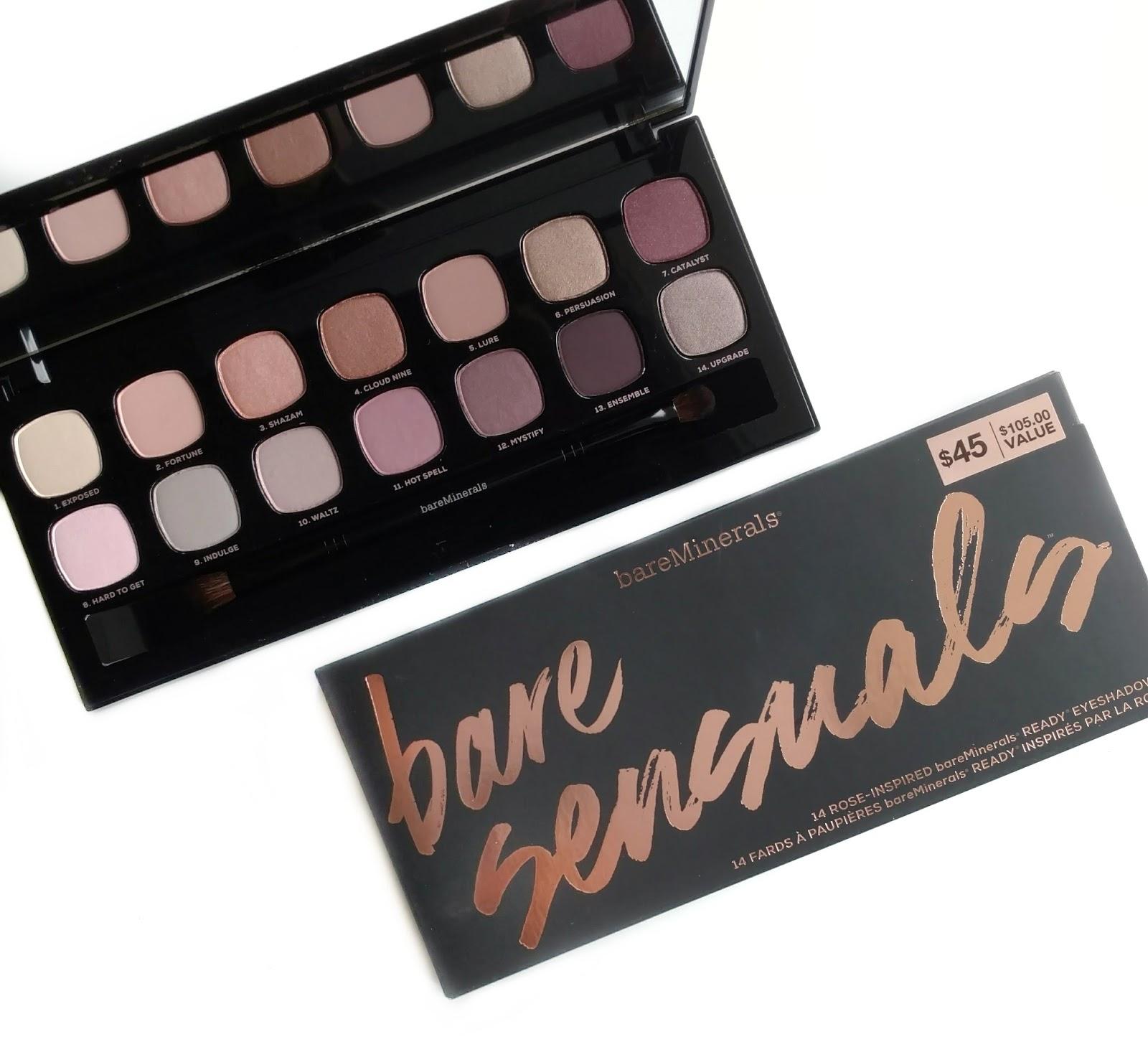 bareminerals bare sensuals eyeshadow palette review
