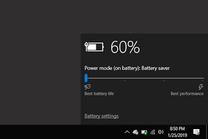 Cara Menghemat Battery Laptop di Windows 10