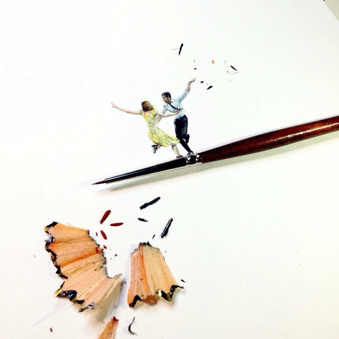 12-La-La-Land-Claudia-Maccechini-Miniature-Tiny-Drawings-www-designstack-co