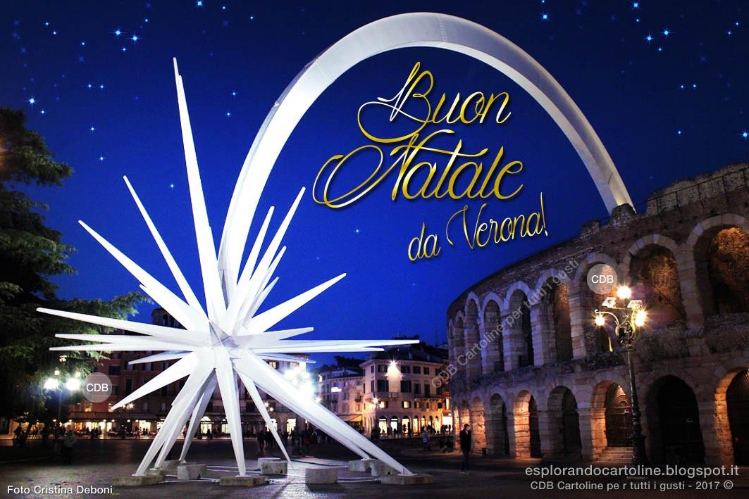 Stella Di Natale A Verona.Cdb Cartoline Per Tutti I Gusti Cartolina Buon Natale Da Verona