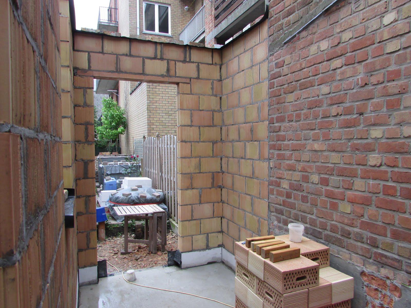 Verbouwing van ons ouderlijk huis ruwbouw uitbreiding 9 - Uitbreiding stenen huis ...