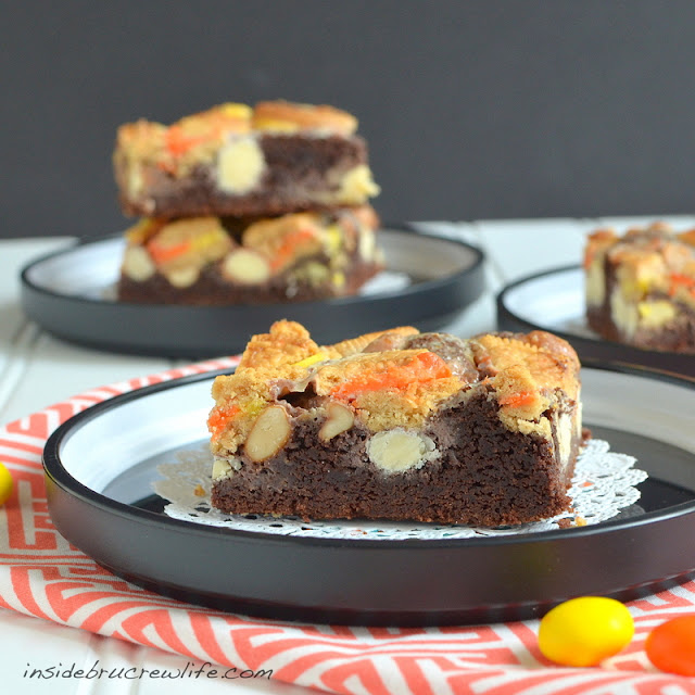 Candy Corn Gooey Cake Bars