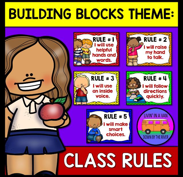 #classrules, #buildingblocks, #rainbowtheme, #classroomrules, #bts