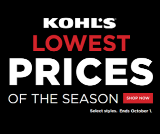 Kohls Lowest Prices Of the Season Sept 2017