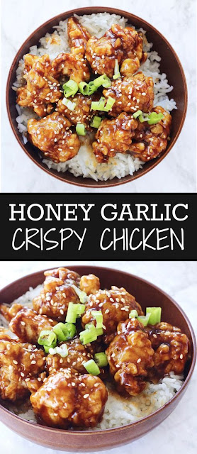HONEY GARLIC CRISPY FRIED CHICKEN RECIPE