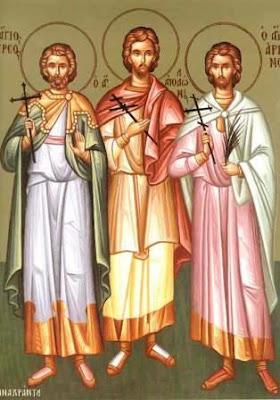 Αποτέλεσμα εικόνας για Άγιοι Φιλήμων, Απολλώνιος, Αρριανός και οι τέσσερις Προτεκτοράτοι 14 Δεκεμβρίο