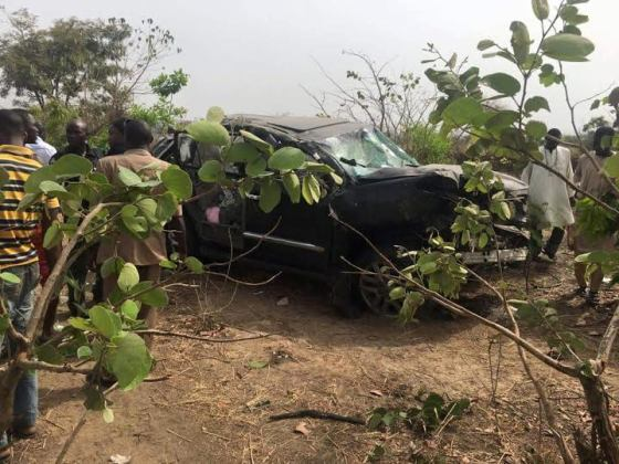 Photos From The Fatal Accident That Killed The Minister Of State For Labour, James Ocholi And His Son
