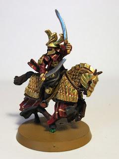 Caballero dragón a caballo