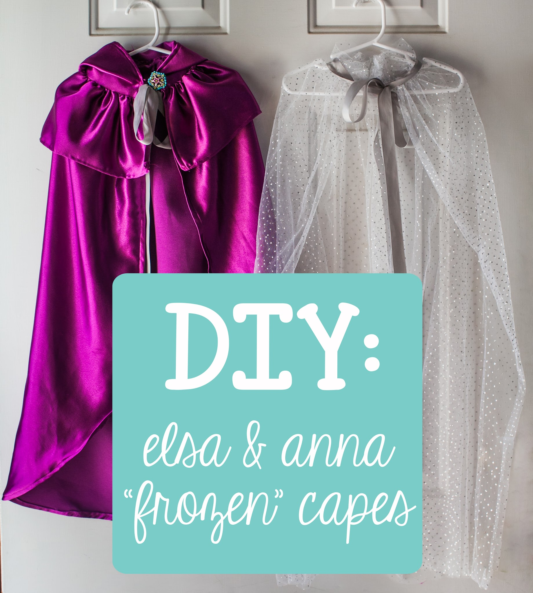 Like 2/3 of kids under the age of 30 Carys is completely in love with the movie  Frozen.  So much so that she has an entire routine for the  Let It Go  ... & You Are My Licorice: DIY : Elsa u0026 Anna Costume Capes from