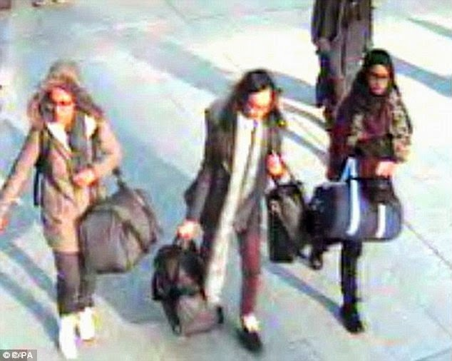 3 british girls flee syria