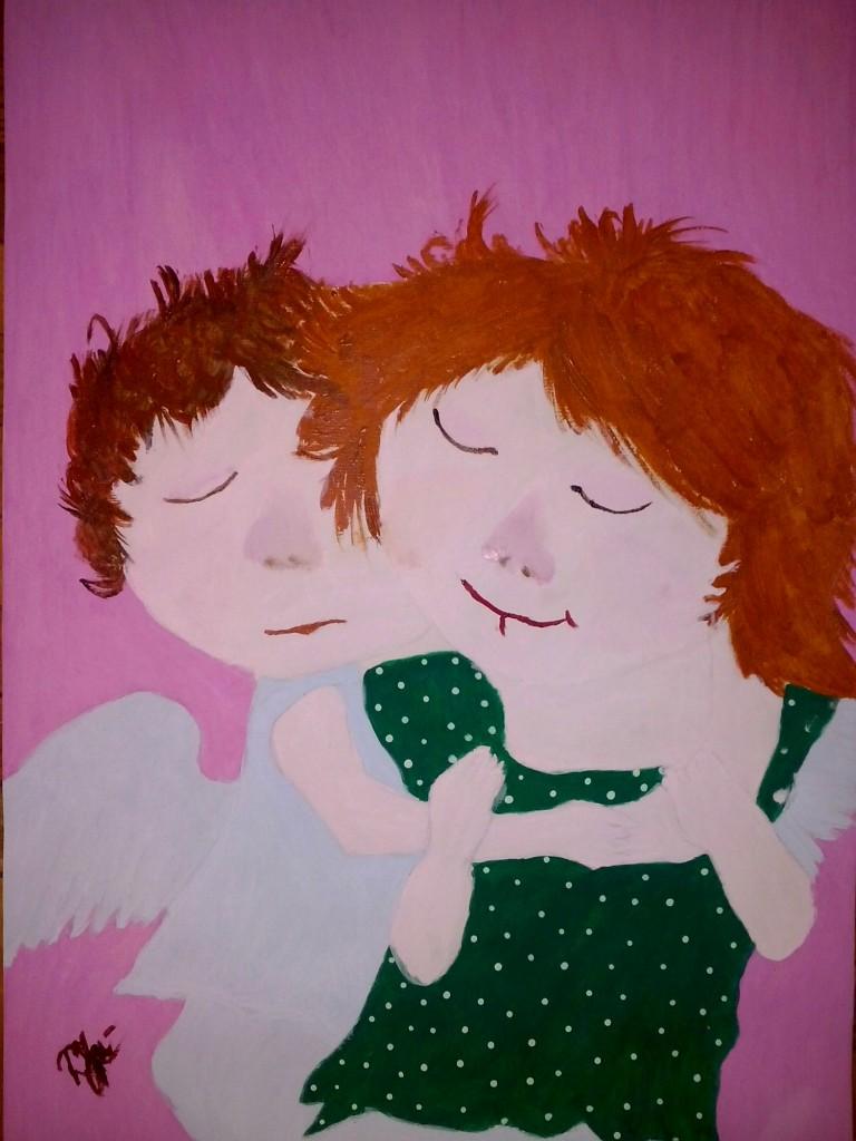 Ангелятко любило дівчинку. Її звали Оленкою. Але ангелятко нарекло її  дівчинкою. Бо завжди чуло f4700fab8b98b