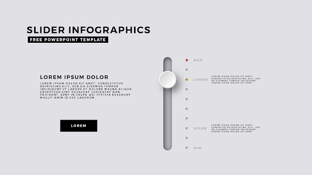 Infographic Design Elements with 1 Slider Diagram for PowerPoint Template