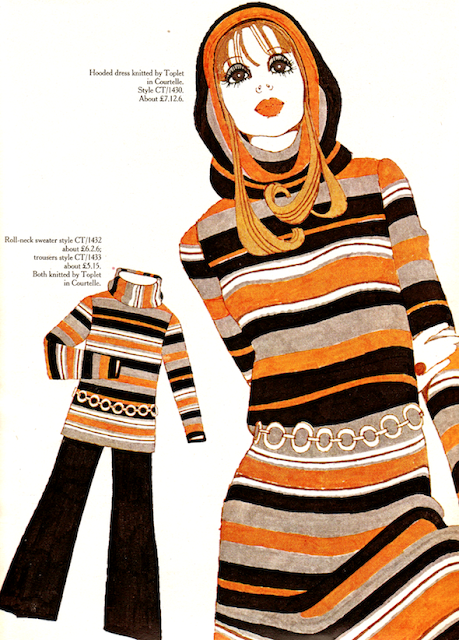 1960s fashion illustration advert