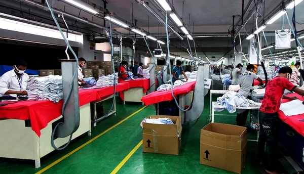 Garment industry finishing department