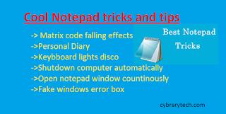 cool notepad tricks