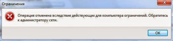 Запрет доступа к разделу жесткого диска.