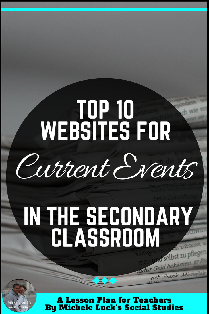 Top 15 Websites for Teaching Current Events in the Secondary Social     Top 15 Websites for Teaching Current Events Websites in the Secondary  Social Studies Classroom with ideas