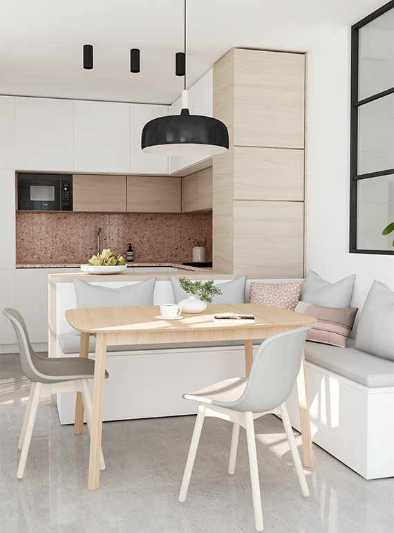 New in portfolio small kitchen design before after my - Porte tablette cuisine ...
