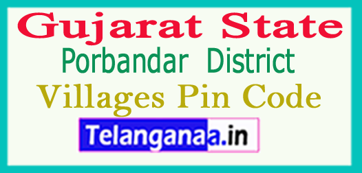Porbandar District Pin Codes in Gujarat State