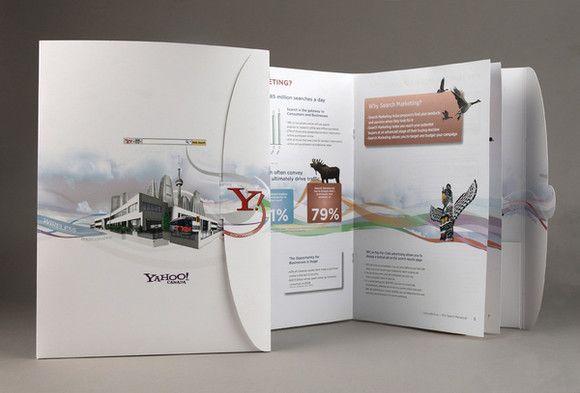 Desain brosur untuk keperluan marketing Yahoo