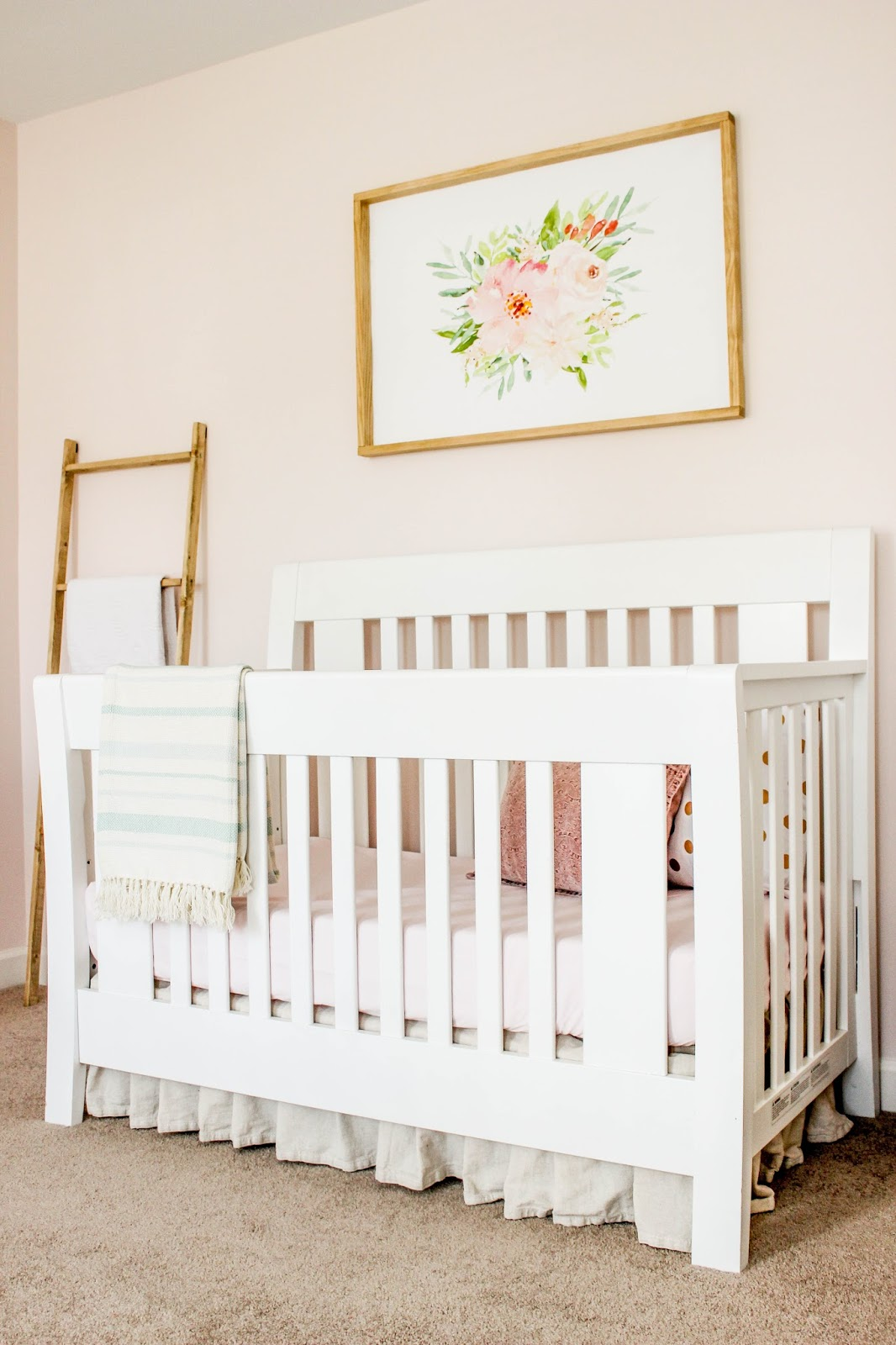 blush pink nursery for baby girl