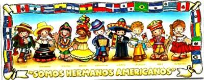 Imagen del Día de las Américas a colores para niños