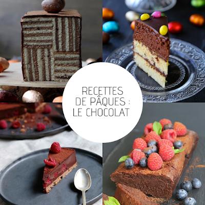 fondant chocolat , tarte praliné , ganache chocolat , dessert de fêtes pour Pâques
