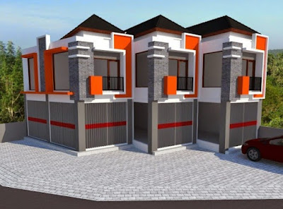desain ruko minimalis 2 lantai ~ metro properti balikpapan