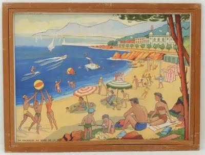 Planche Rossignol, Les Vacances au Bord de la Mer, www.collectionsrossignol.com  (collection musée)