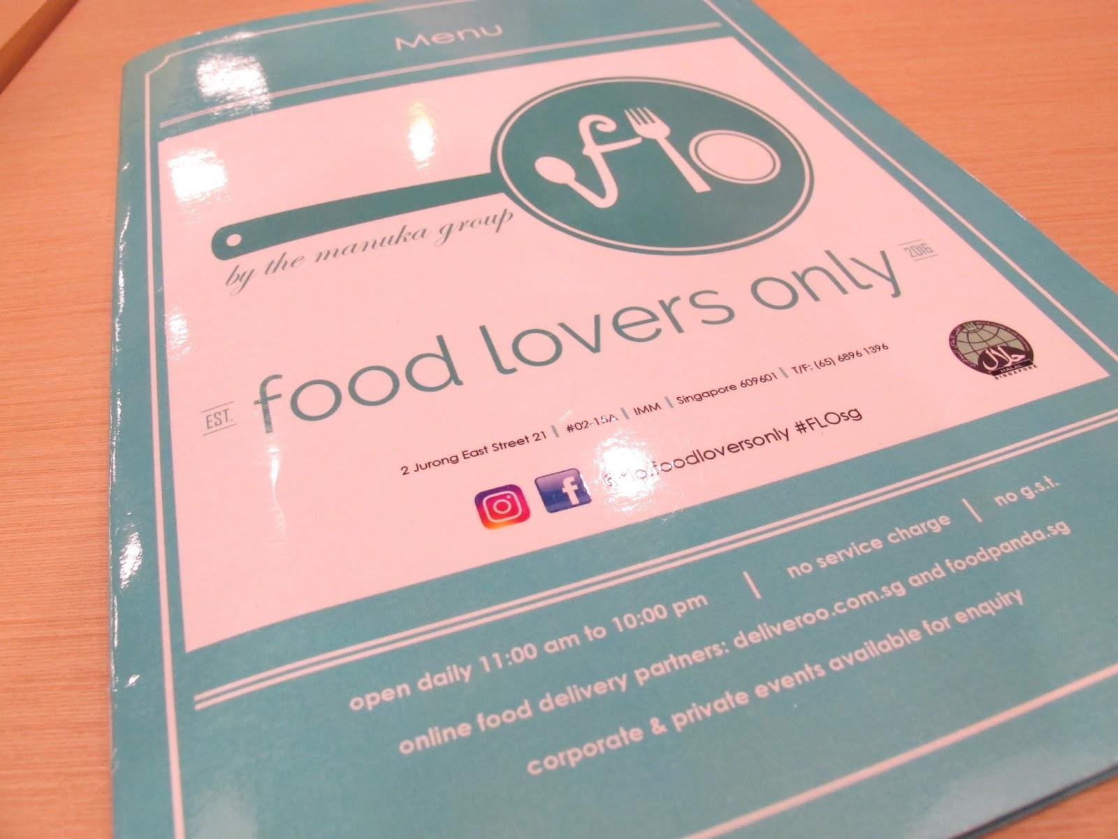 Food Lovers Menu