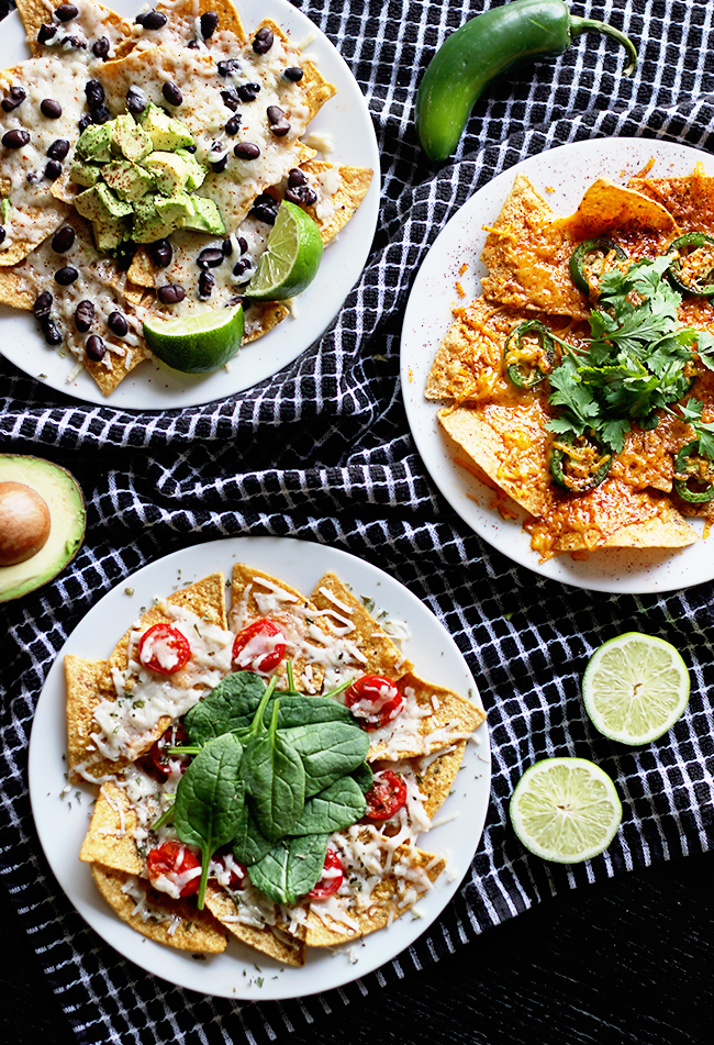 Plant-Based Nachos, 3 Ways