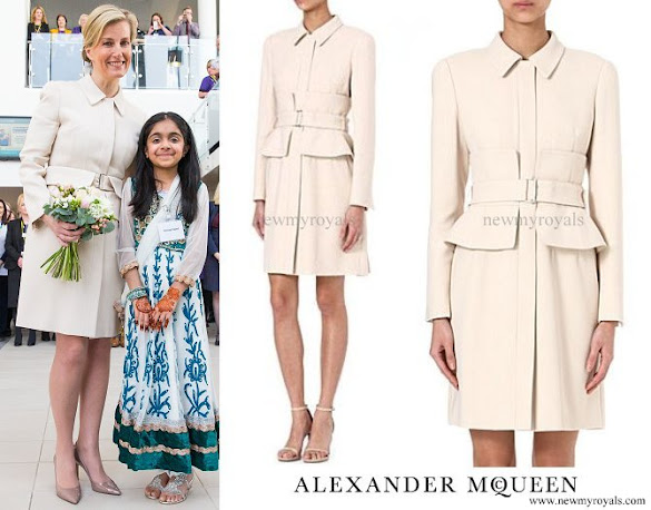 Countess Sophie wore Alexander McQueen Peplum-Waist Dress Coat