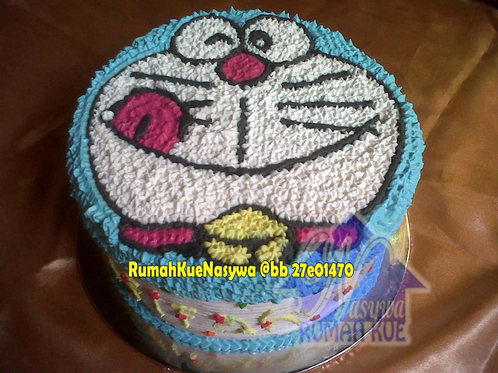 Rumah Kue Nasywa Rainbow Cake Doraemon
