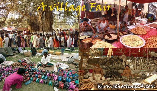 a village fair essay In a village fair, people come from parts to sell their various articles there is a temporary shop which is arranged in various rows the shops of one kind are arranged in one row and on one side there are shops of confectioners.