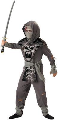 Boys Zombie Ninja Child Costume for Halloween