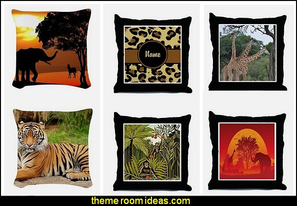 jungle theme bedrooms - safari jungle themed wild animals - jungle animals wild safari bedroom ideas - tropical jungle theme - jeep beds - wild animal murals - tropical lagoon murals - jungle waterfall murals - Lion king Disney Jungle vines wall decals