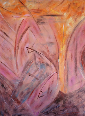 MedleybyOanaSinga.com-Interior-Design-Personal-Blog-Oana-Singa-Painting-Entanglement-with-Pink-II-acrylic-on-canvas-30X40in