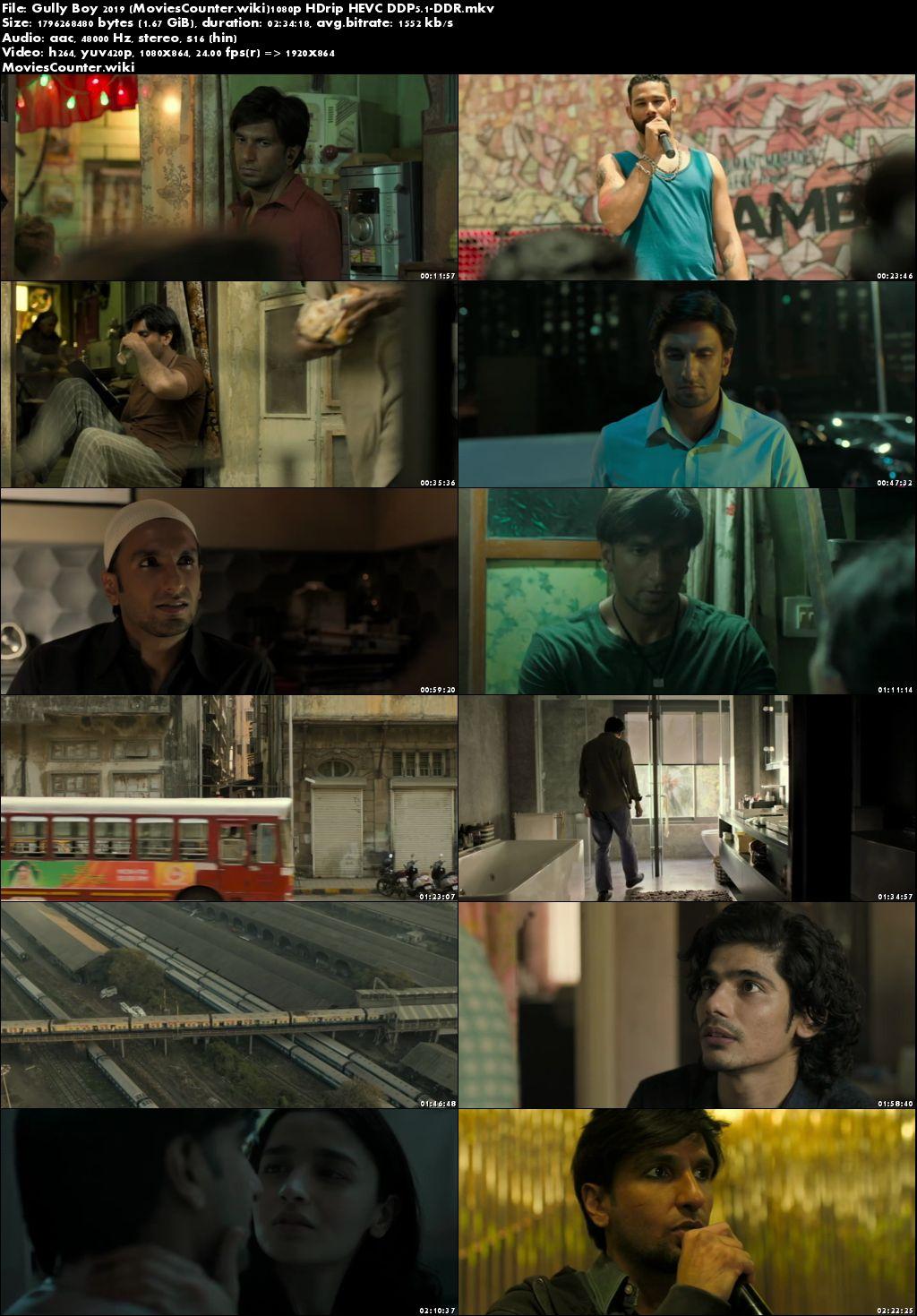 Screen Shots Gully Boy 2019 Hindi HD 720p