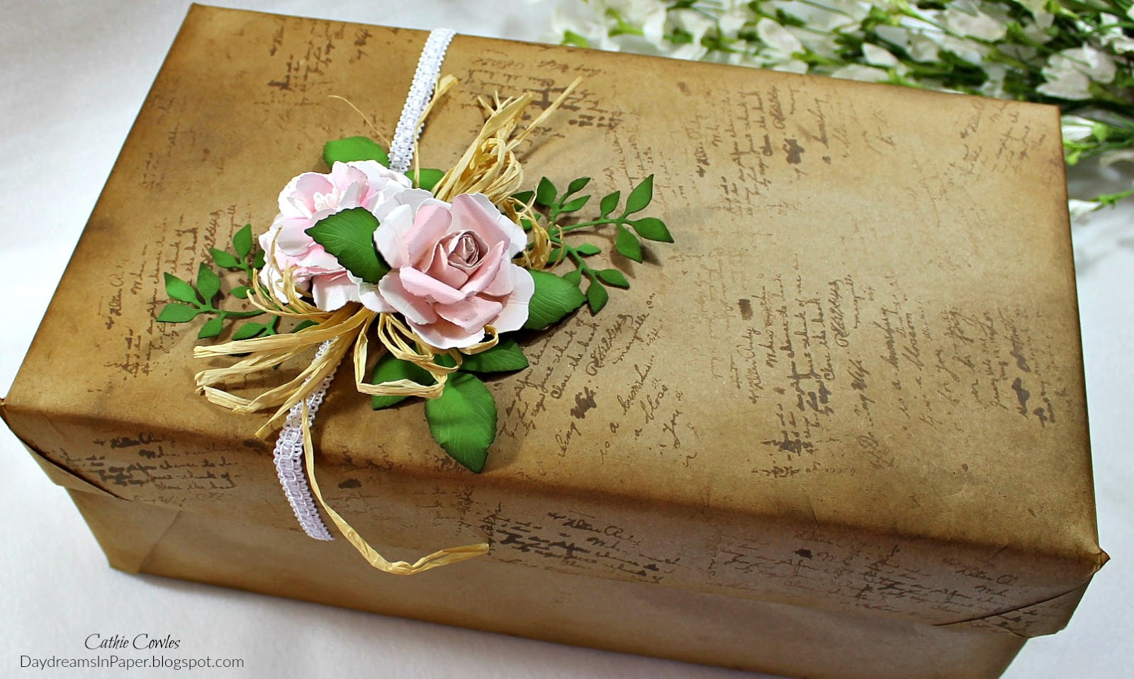 Daydreams in paper transforming an old shoe box into a beautiful how i transformed a shoe box into a beautiful gift box and that you use some of these ideas to create a beautiful box of your own have a great weekend negle Images