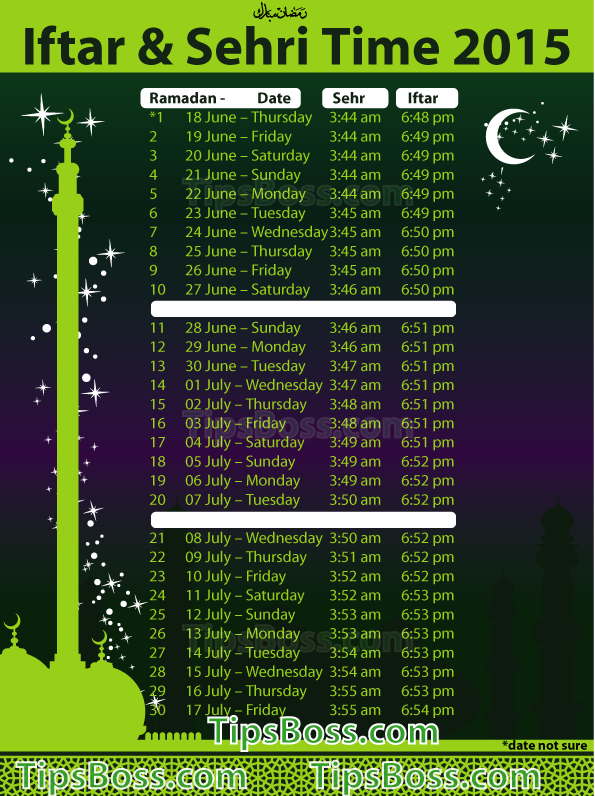 Image Result For Sehri Time In New York