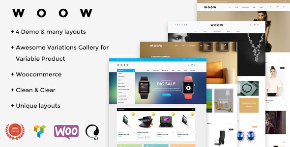 Free Download WOOW V1.1.2 Responsive WooCommerce Wordpress Theme