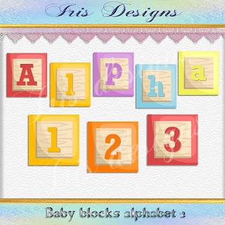 Baby blocks alphabet 2