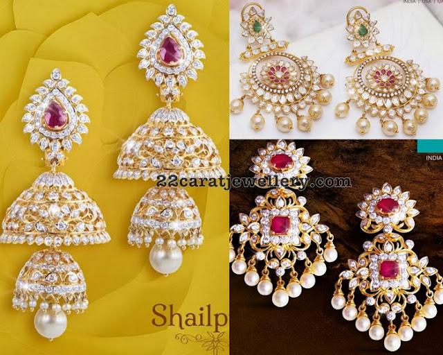 Exclusive Diamond Jhumkas and Chandbalis by PMJ